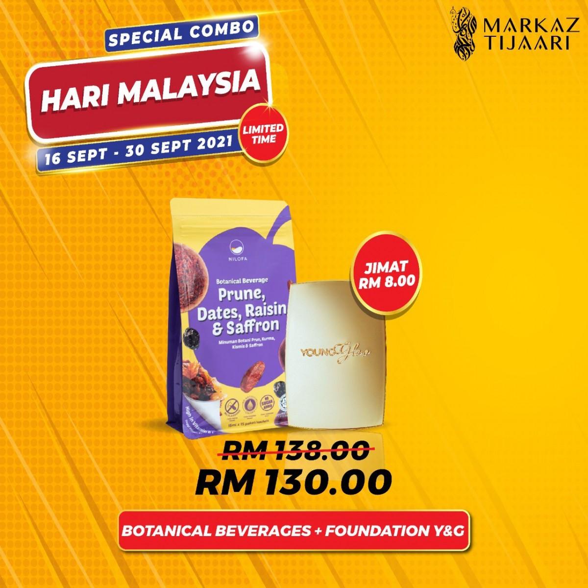 Malaysia Day Deals Foundation Young & Glow + Botanical Beverage - MARKAZ TIJAARI