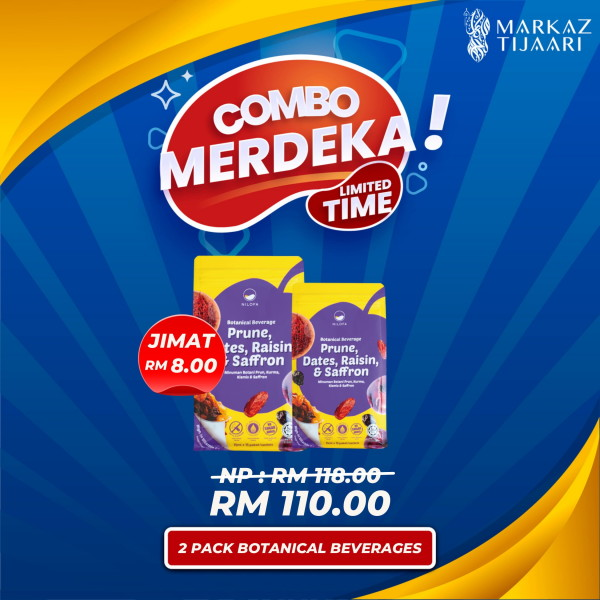 2 Pack Botanical Beverages Combo Merdeka - MARKAZ TIJAARI