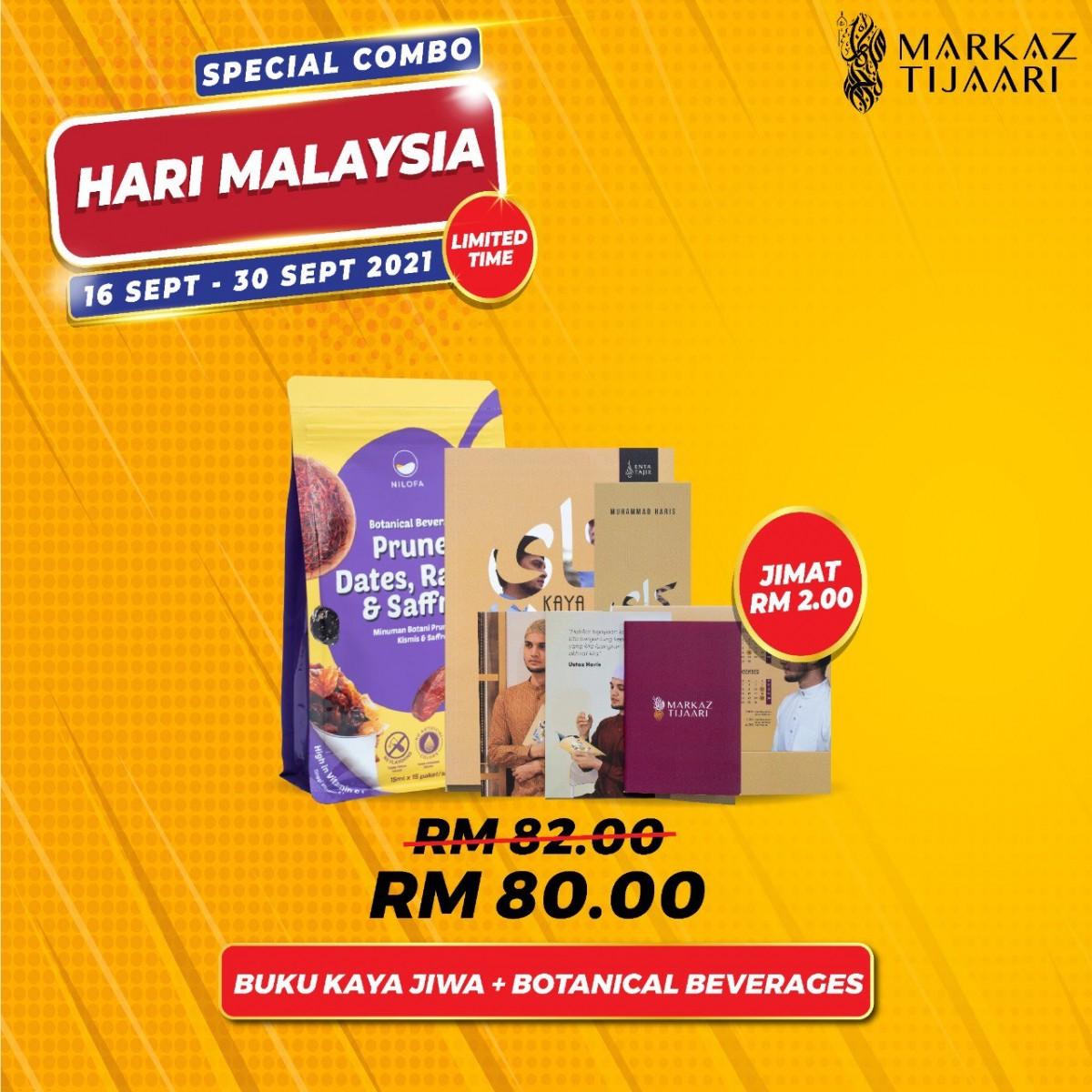 Malaysia Day Deals Buku Kaya Jiwa + Botanical Beverage - MARKAZ TIJAARI