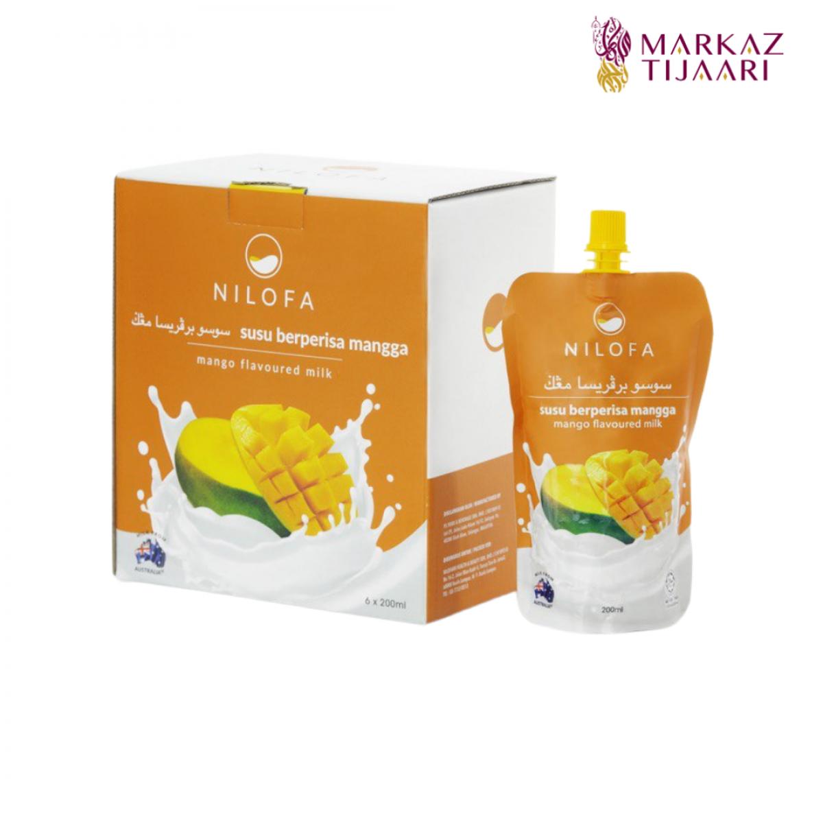 Nilofa Mango Flavoured Milk - Set (6 Pouch) - MARKAZ TIJAARI