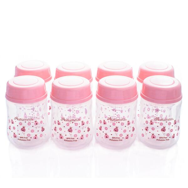 Autumnz Wide Neck Breastmilk Storage Bottles *5oz Lady Bird (8 Bottles) - Baby Care Malaysia
