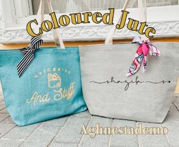Personalised Coloured Jute