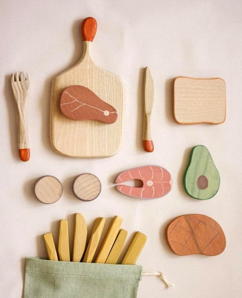 Wooden BBQ Set