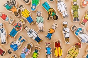 The Wooden Village People (42 pcs) *Ready Stock* - Petit World