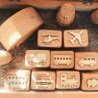 Vehicles Wooden Stampers - Petit World