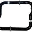 24 Piece Road Tracks - Petit World
