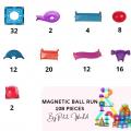 Petit World 108 Pieces Ball Run Pack - Petit World
