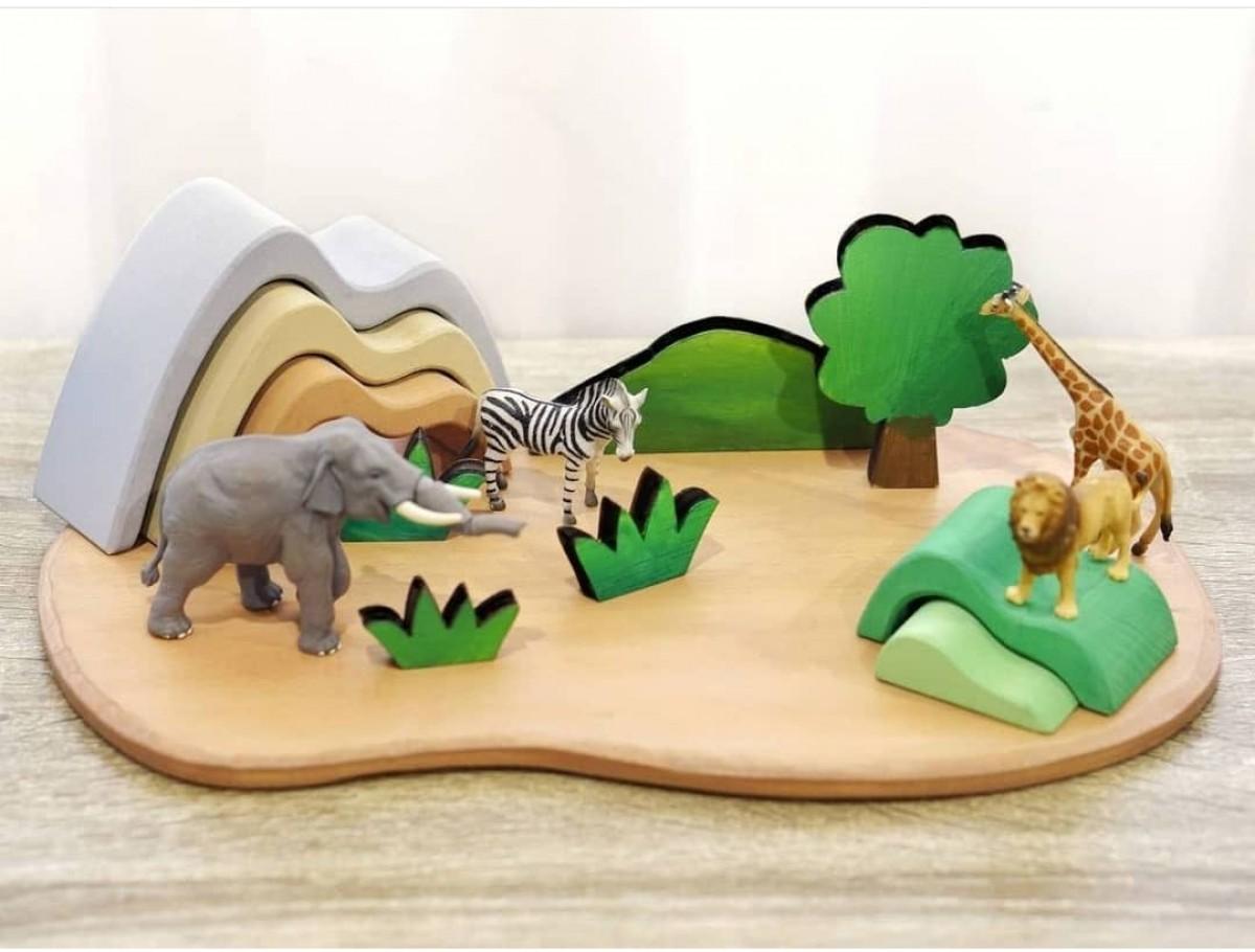 Wooden Playboard - Large - Petit World