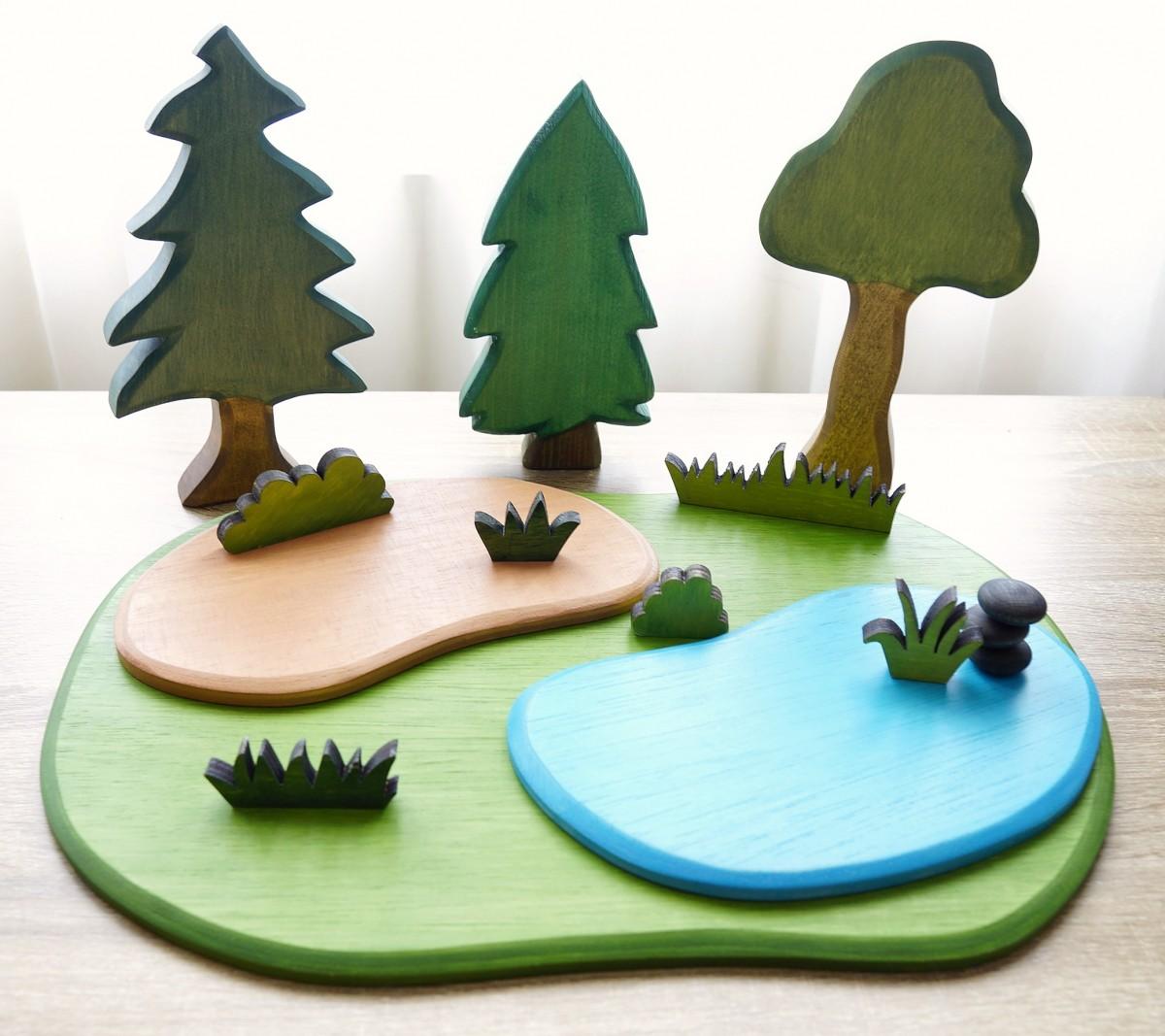 Wooden Playboard -Small - Petit World