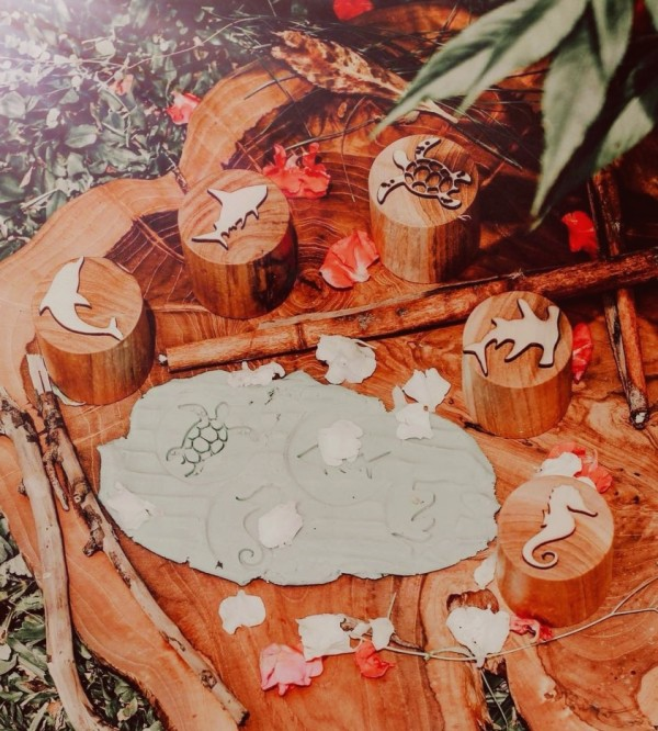 Sealife Wooden Stampers - Petit World